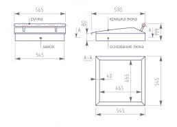 Люк технического отсека с полимер. покрытием (ВН 465х465)