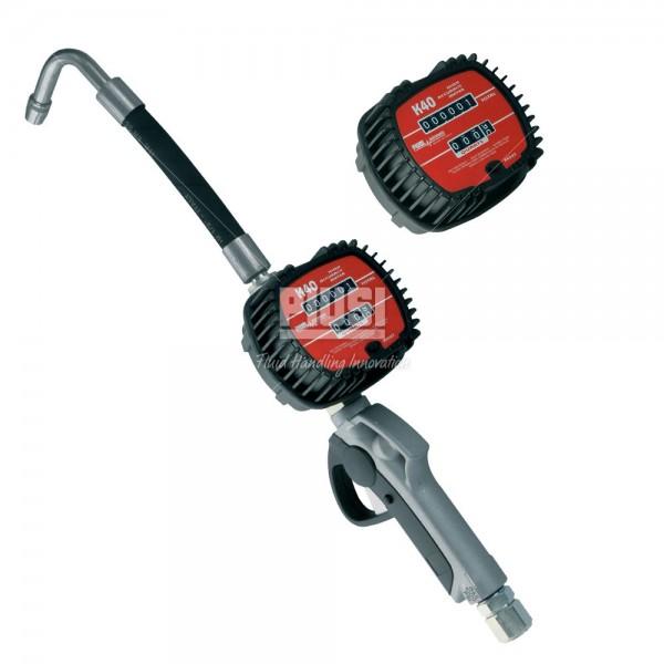 K40 nozzle flex - Пистолет для раздачи масла с механическим счётчиком