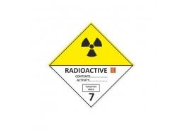 """Знак """"Класс 7. Категория III Радиоактивные вещества"""""""