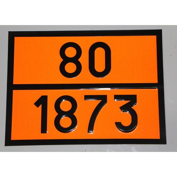 """Табличка ДОПОГ - """"Кислота хлорная с массовой долей кислоты более 50%, но не более 72%"""" (UN1873)"""