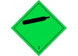 """Знак """"Класс 2.2 Невоспламеняющиеся, нетоксичные газы"""""""