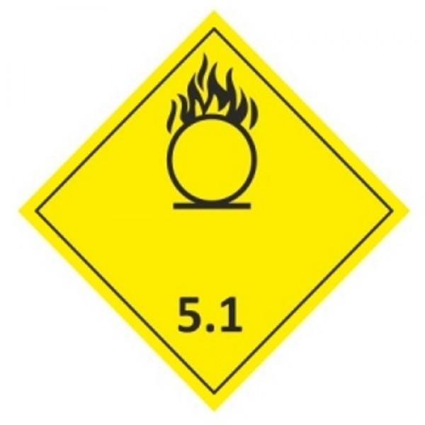 """Знак """"Подкласс 5.1. Окисляющие вещества или органические пероксиды"""""""