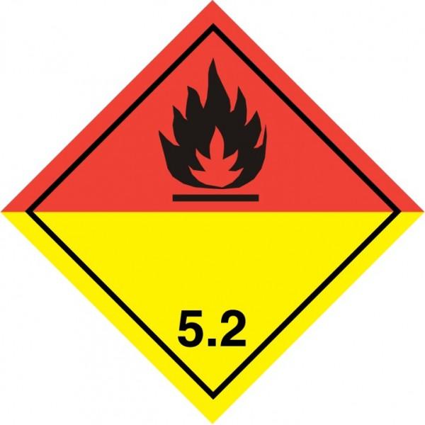 """Знак """"Подкласс 5.2. Окисляющие вещества или органические пероксиды"""""""
